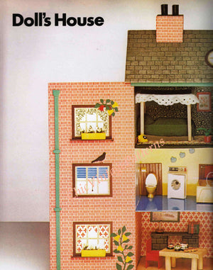 Cardboard Doll's House and Furniture Pattern, No Special Skills Required, Instant Download