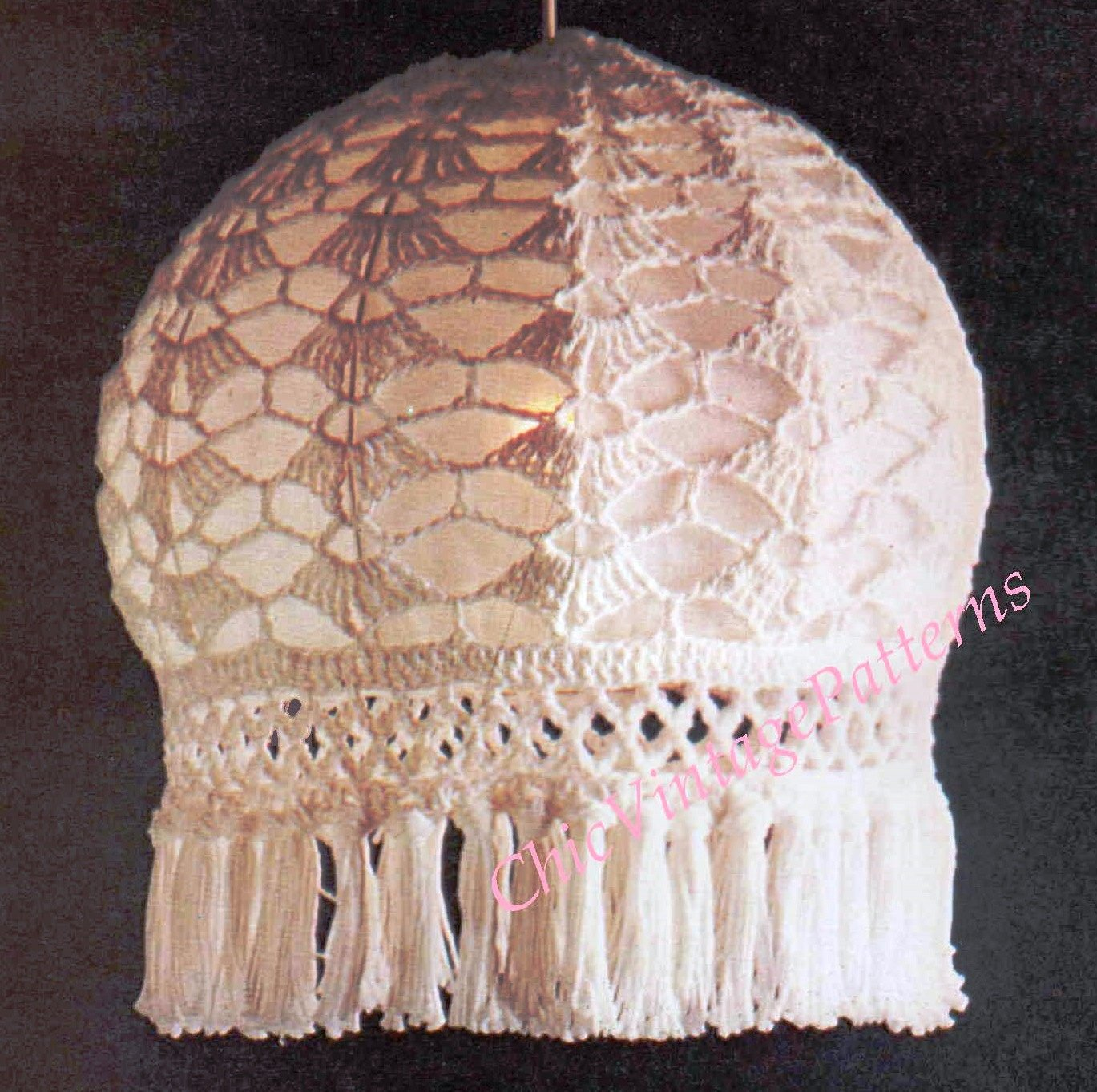 How To Make A Crochet Lampshade, Instant Download Pattern