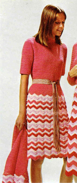 Ladies Summer Crochet Dress and Stole Pattern, Instant Download