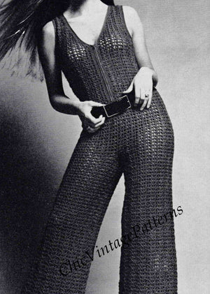 Crochet Ladies Culottes, Jumpsuit Pattern, Instant Download