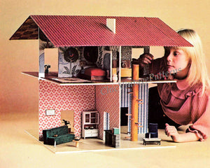 How-To-Make a Dolls House Pattern, Basic Woodworking, Instant Download