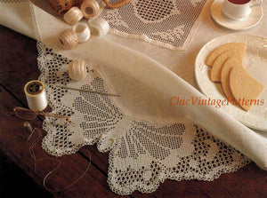 Butterfly Crochet Tablecloth or Edging, PDF Crochet Pattern