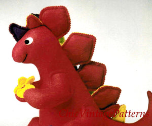 Dinosaur Toy Pattern, Stegosaurus Soft Toy, PDF Sewing Pattern