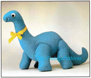 Dinosaur Toy Sewing Pattern, Dinosaur Soft Toy, Instant Download