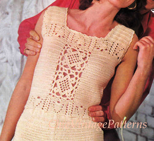 Crochet Shorts and Top Pattern, Lacy Ladies Resort Wear, Instant Download