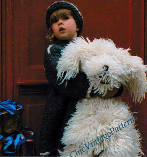 Knitted Toy Dog Pattern, Soft Furry Dog, Instant Download