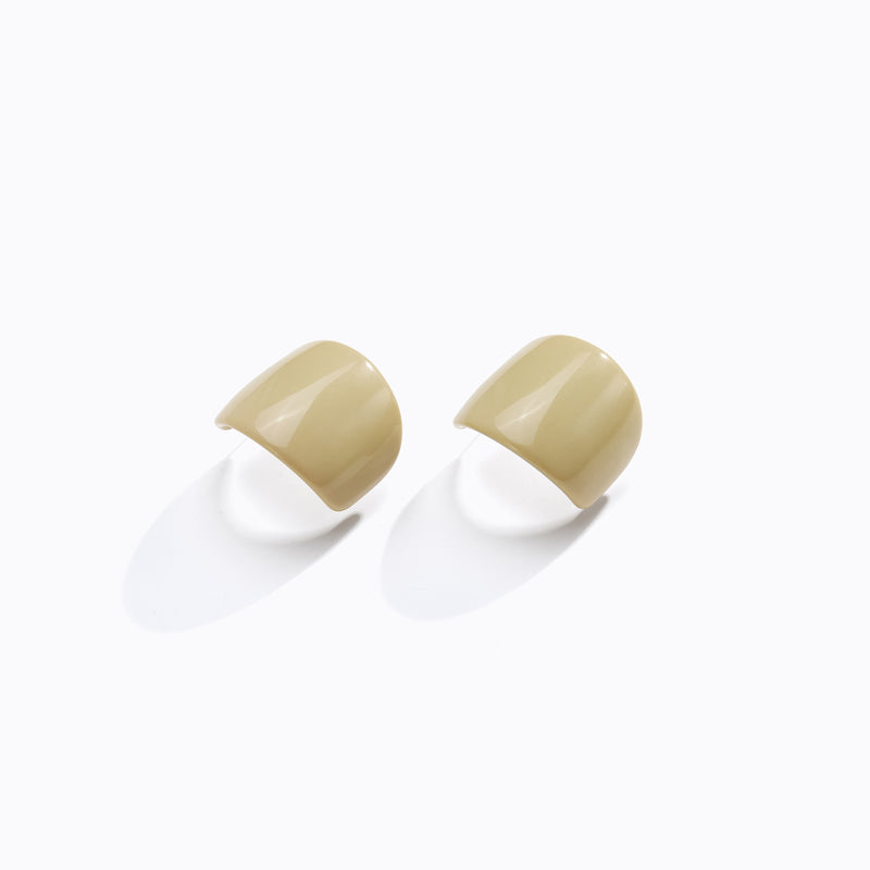 Painted Curved Stud Earrings