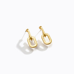 Interlocking Loop Drop Earrings