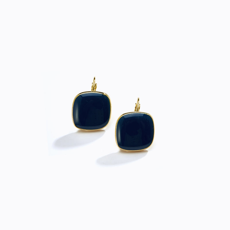 Square Stone Stud Earrings