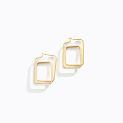 Conjoining Square Drop Earrings