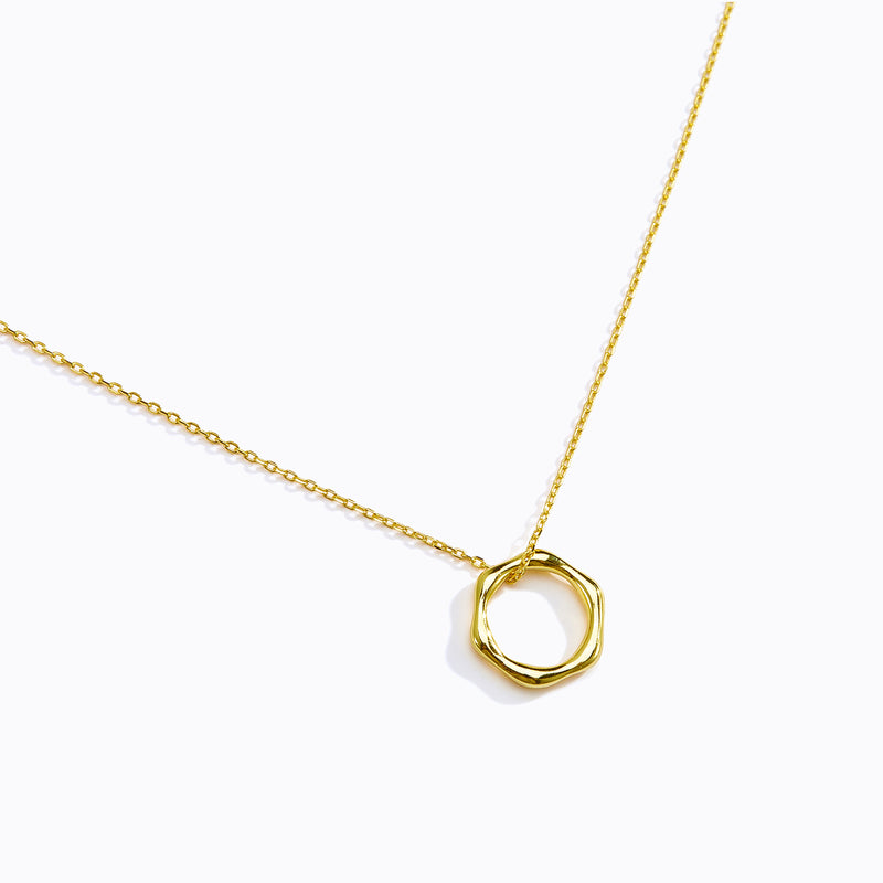 Hexagon Hoop Necklace