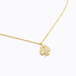 Ace of Spade Pendant Necklace