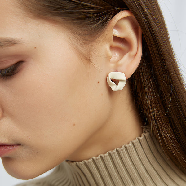 Woven Loop Stud Earrings
