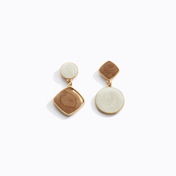 Inverse Geometric Shape Drop Earrings