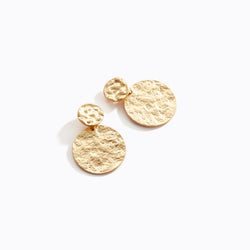 Speckled Gold Plate Drop Earrings