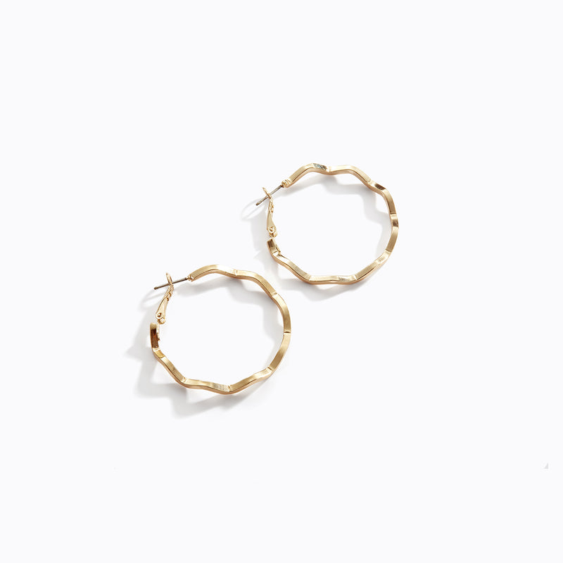 Zig Zag Hoop Earrings