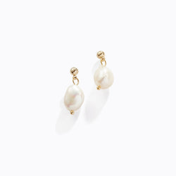 Pearl Drop Stud Earrings