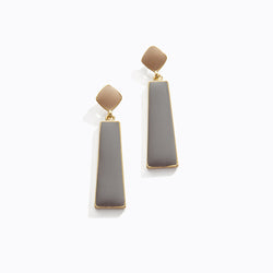 Cool Tone Rectangular Drop Earrings