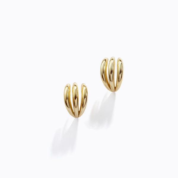 Tri-Cuff Stud Earrings