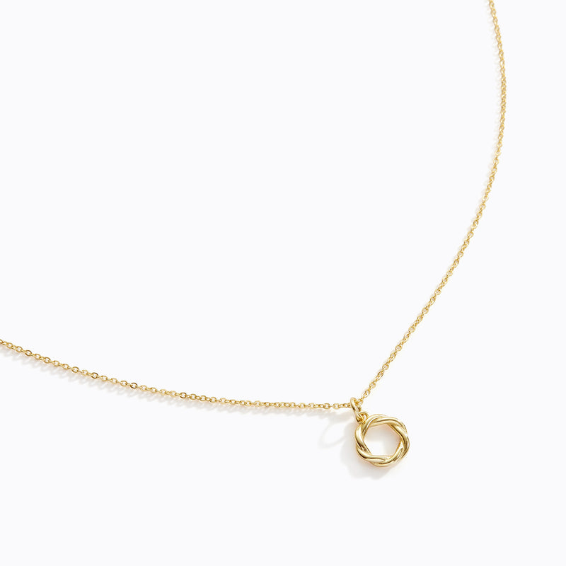 Intertwining Hoop Necklace