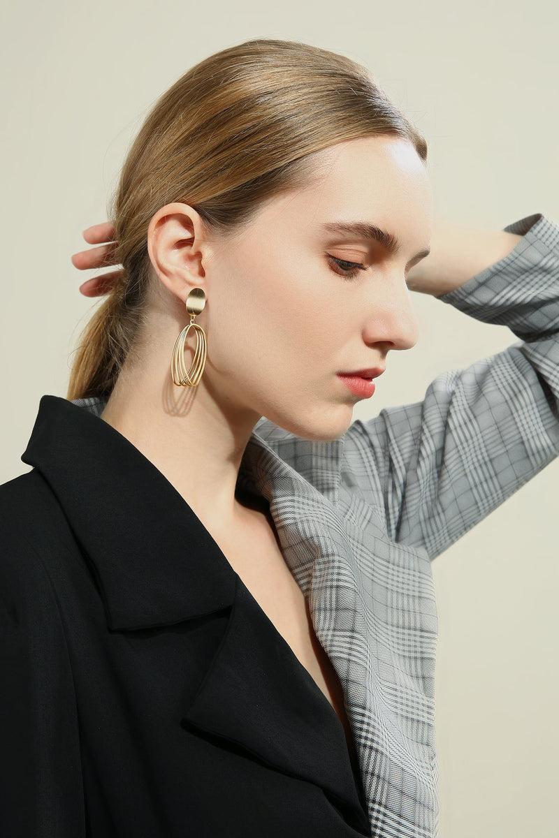 Wire Loop Drop Earrings