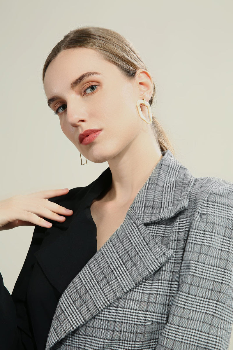 Irregular Loop Asymmetric Drop Earrings