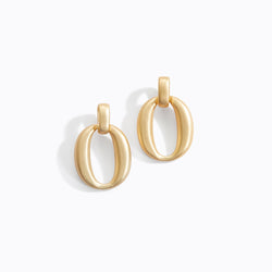 Matte Loop Drop Earrings