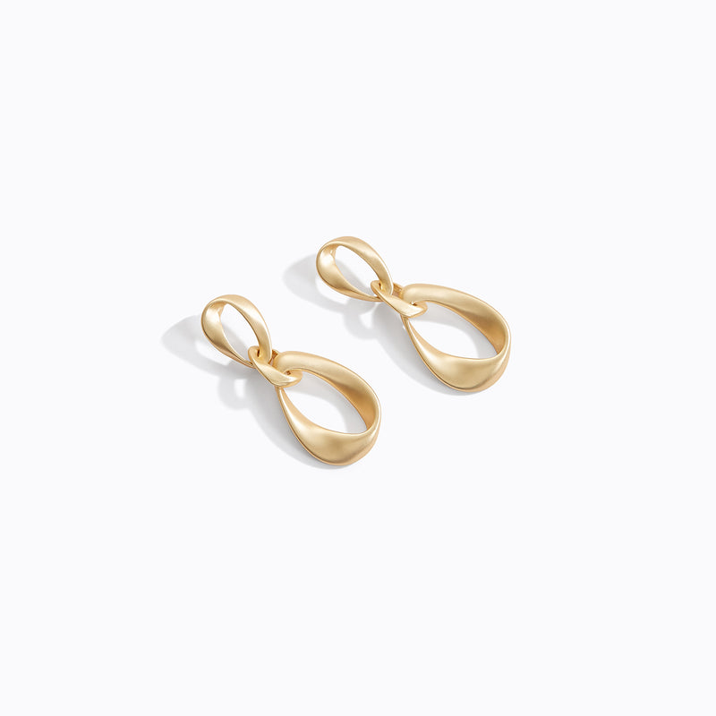 Triple Looped Knot Earrings