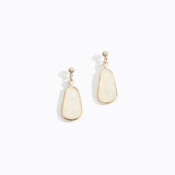 Mother of Pearl Resin Earrings