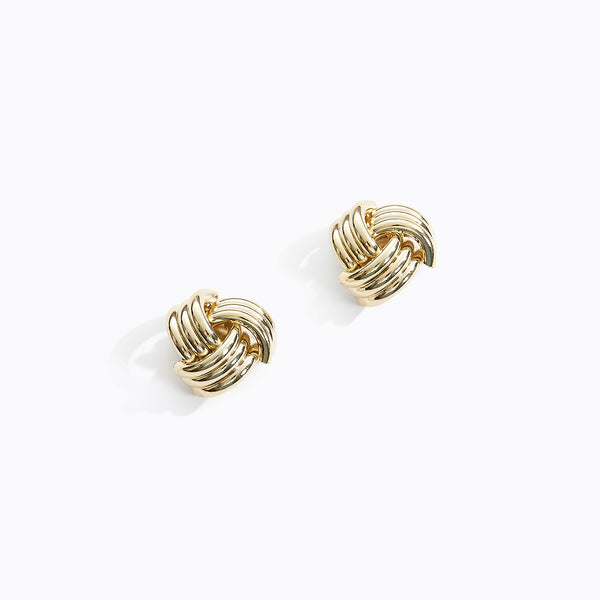 Tri Ring Weave Stud Earrings
