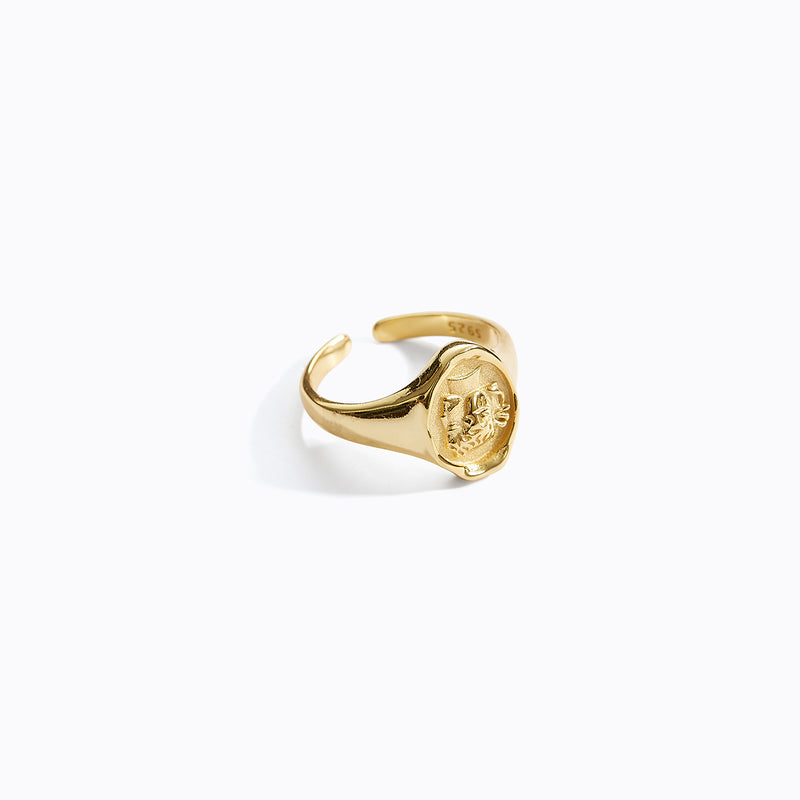 Gold Portrait Ring