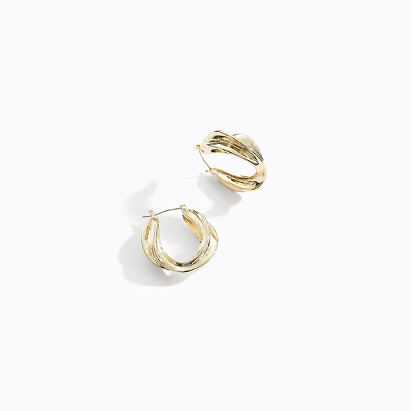 Celi Twisted Gold Hoop Earrings