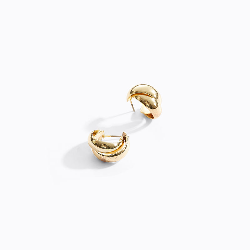 Double C Hoop Earrings