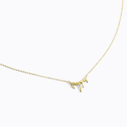 Gold Drip Choker Necklace