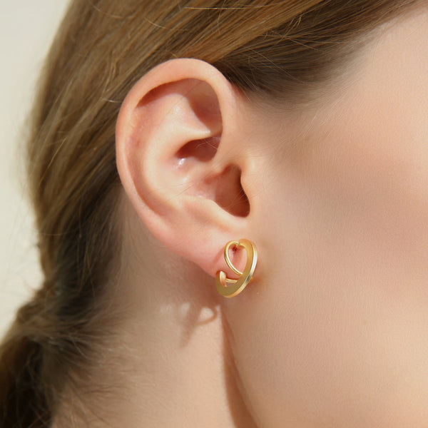 Incomplete Spiral Hoop Earrings