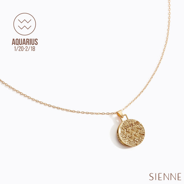 Astrological Pendant Necklace - (Aquarius)