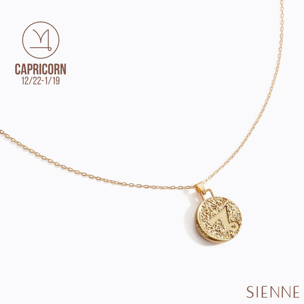 Astrological Pendant Necklace - (Capricorn )