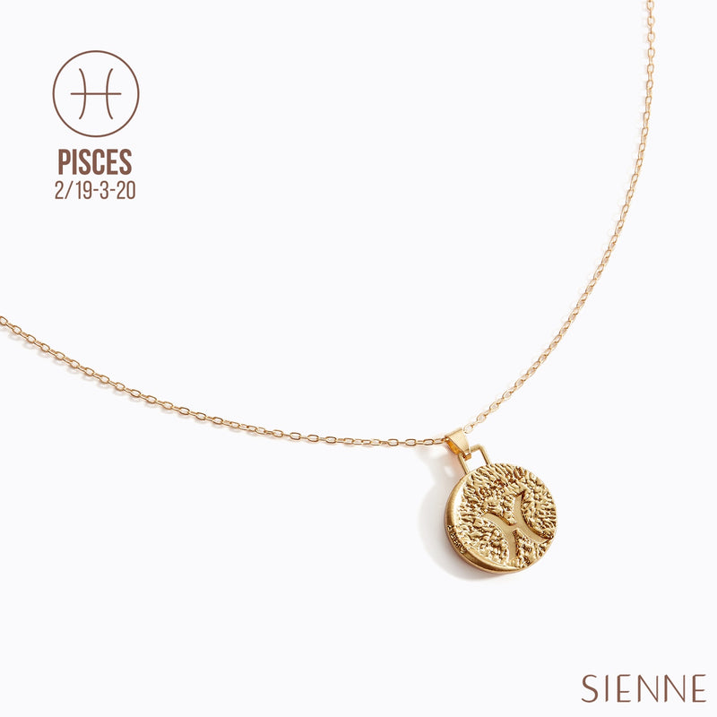 Astrological Pendant Necklace - (Pisces)