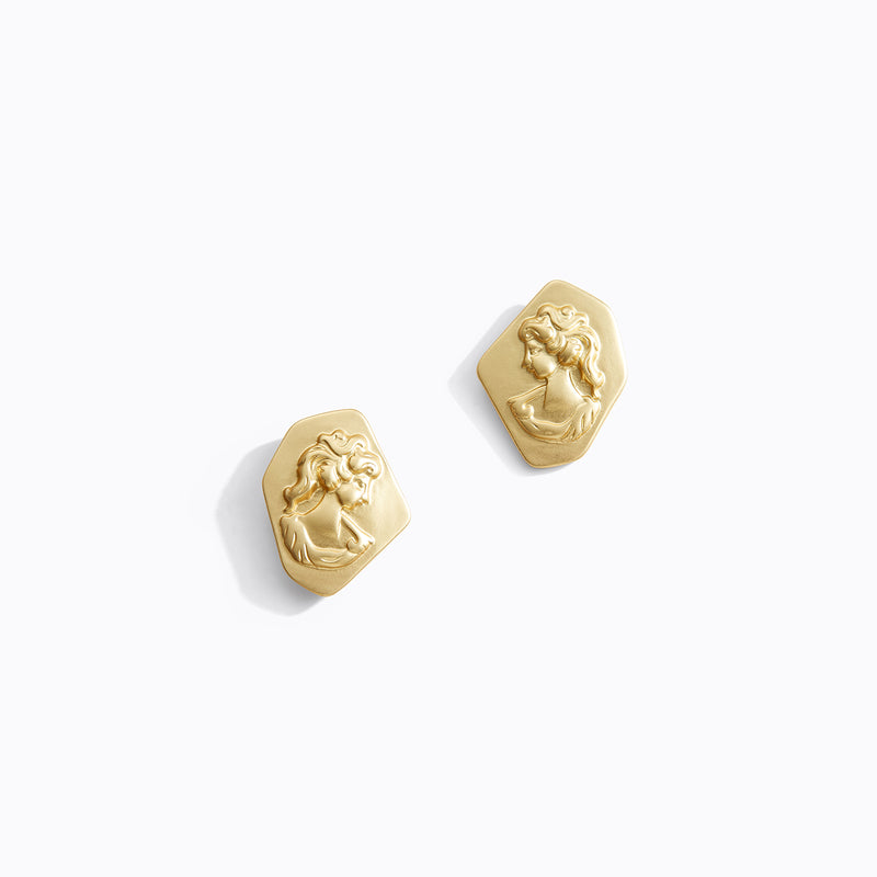 Matte Victorian Stud Earrings