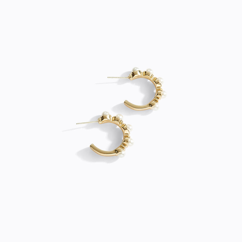 Pearl Detailed Hoop Earrings