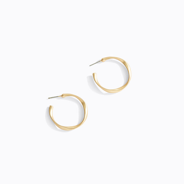 Twisted Large Hoop Earrings