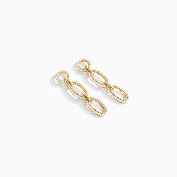 Pearl Detailed Chain Earrings