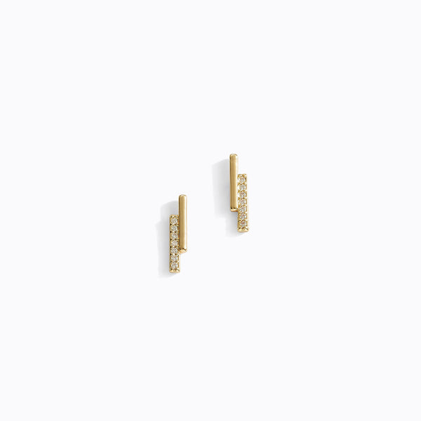 Double Bar CZ Earrings