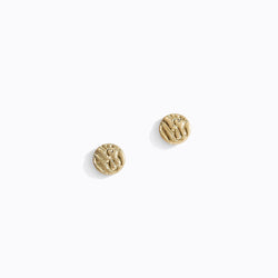 Textured Circle Stud Earrings