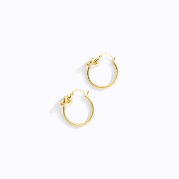 Looped Knot Hoop Earrinngs