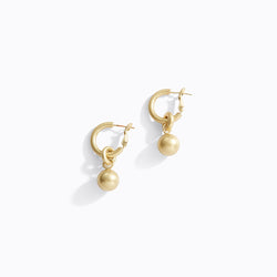Hoop & Ball Drop Earrings