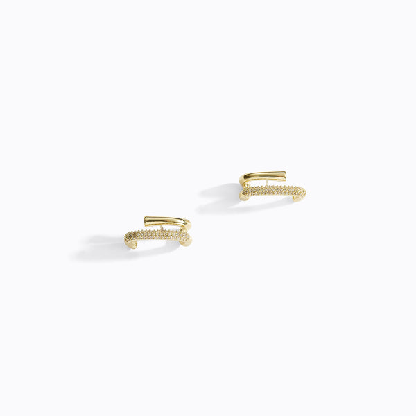 Twisted Double Bar Earrings