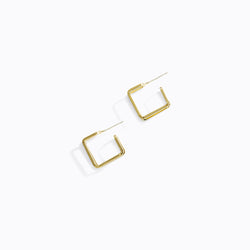 Dimensional Square Hoop Earrings