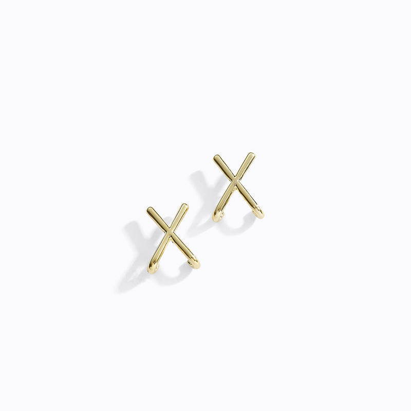 Criss-Cross Stud Earrings