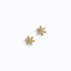 Gold-Tone Flower Stud Earrings